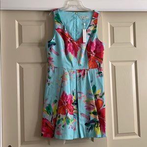 Trina Turk - blue floral dress  NWT!